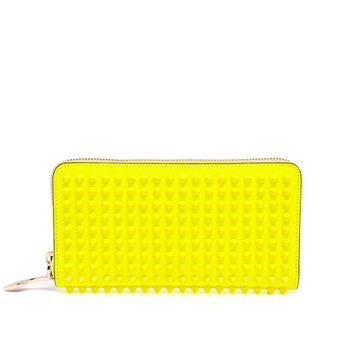 Neon Spiked Panettone Calf Leather Purse - CHRISTIAN LOUBOUTIN