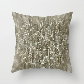 City Visions Throw Pillow by Texnotropio