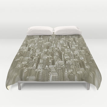 City Visions Duvet Cover by Texnotropio