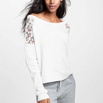 Lace-inset Pullover - French Terry - Victoria's Secret