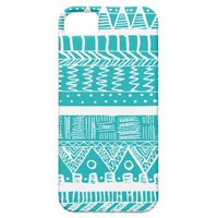 Boho Blue Aztec iPhone 5 Case from Zazzle.com