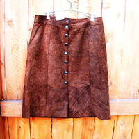 vintage sienna brown suede Gap skirt. size 4. size S to M. leather mini skirt. fall fashion. dead stock. NWT