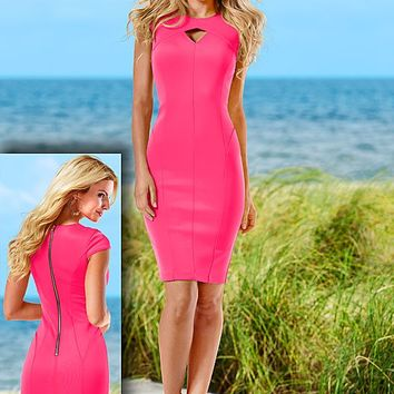 HOT PINK Keyhole front dress from VENUS