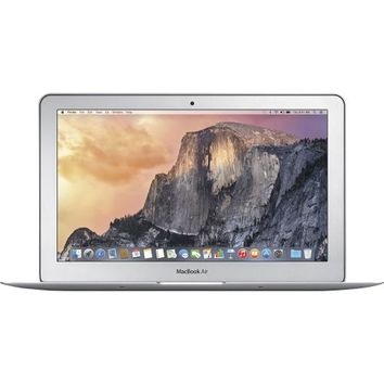 "Apple® - MacBook Air® (Latest Model) - 11.6"" Display - Intel Core i5 - 4GB Memory - 128GB Flash Storage - Silver"