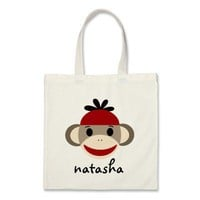 Personalized Sock Monkey Bookbag from Zazzle.com