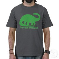 Never Forget (Dinosaur/Dinosaurs) T-Shirt from Zazzle.com