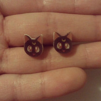Sailor Moon Luna post earrings