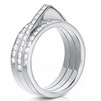 Carbon & Hyde hourglass ring 14K white gold