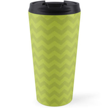 Zigzag (Chevron), Stripes, Lines - Green