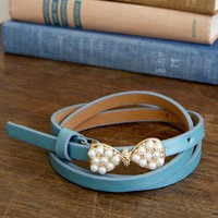 "Prim and Proper Pearl ""Essence"" Belt - Baby Blue"
