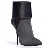 GIUSEPPE ZANOTTI Smoke Grey Suede Ankle Boots