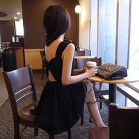 Women KoreaN Fashion Sexy Backless Sleeveless Mini Dresses HOT!!