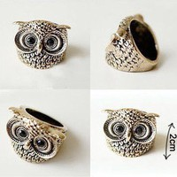 Hot Fashion Vintage Retro Style Owl Shape Ring Free Shipping Rings