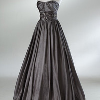 Custom Size A-line Floor-length taffeta ball gowns Bridesmaid Dress Evening Prom Dress