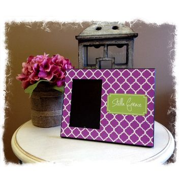 Monogram Picture Frame - Choose Your Pattern!