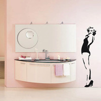 Marilyn Monroe Life-sized in Iconic Bathing Suit Sticker Wall Decal - 68""