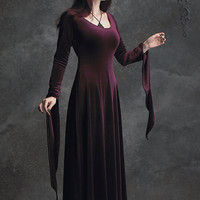 Morgana Velvet Fairy Gown - Custom Elegant Gothic Clothing and Dark Romantic Couture