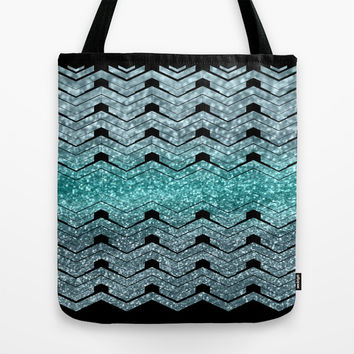Pattern teal sparkles Tote Bag by VanessaGF