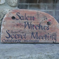 Handpainted Halloween Sign On Reclaimed Wood by carolecollects