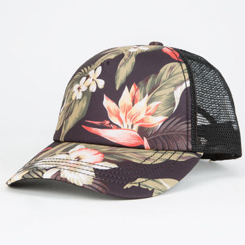 Billabong La Honi Womens Trucker Hat Black One Size For Women 25104610001