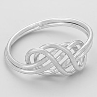 Infinity Double Ring Silver