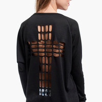 Cross Cutout Sweater $37