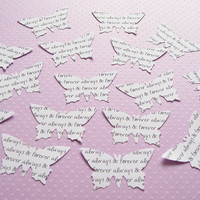 100 x 2 Inch Personalised Custom Butterfly Confetti - Wedding Decor, Wedding, Birthday, Favours, Bridal Shower