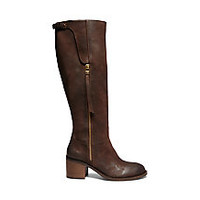 Tall Brown Leather Riding Boots | Steve Madden ANTSY