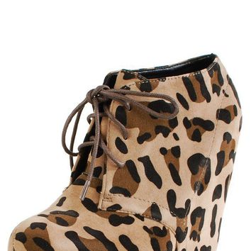 Camilla1 Velvet Ankle Boots LEOPARD