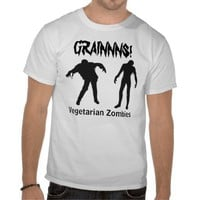 Vegetarian Zombies Shirt from Zazzle.com