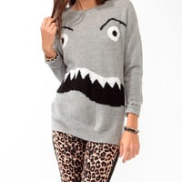 Monster Face Sweater
