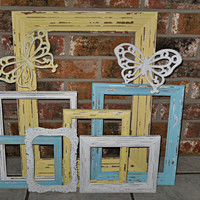 Beach Cottage Coastal Frame Collection by Theshabbyshak on Etsy