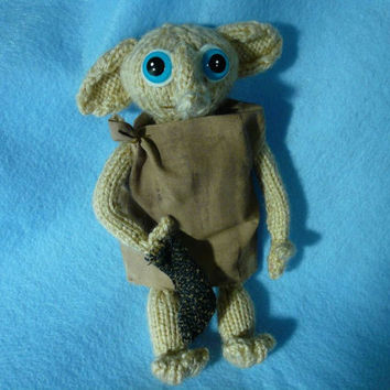 Knitting Pattern For Dobby The House Elf : Dobby the House Elf with Sock Hand from KatesCache on Etsy