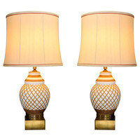 Italian Terra Cotta Table Lamps at 1stdibs