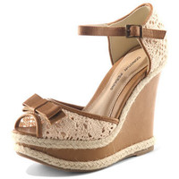 Cream crochet wedge sandals - Shoes Sale  - Shoes  Boots  - Dorothy Perkins