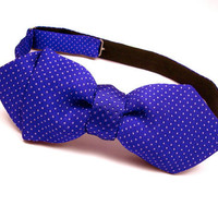 Bow Tie- Purple Pin Dot - Pure Silk - &#x27;Microdot VII&#x27;