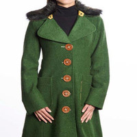 Carnaby Coat In Green - Bliss Salon and Boutique