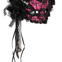 Pink Lace Mask - Fancy Masks
