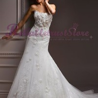 Exquisite A-line Sweetheart Lace Beach Wedding Dress-$358.95-ReliableTrustStore.com