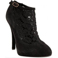 Dolce &amp; Gabbana black suede lace ankle booties??280?cheap Dolce &amp; Gabbana?shoes?Dolce &amp; Gabbana