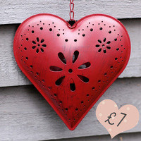 Red Heart Lantern — Dear Blackbird Homewares
