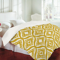 DENY Designs Home Accessories | Heather Dutton Trevino Yellow Duvet Cover