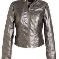 Metallic Zip Jacket
