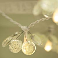 Petal Glass Fairy Lights  with glass dust battery by redbrickglass