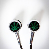 Pot Leaf Earbuds
