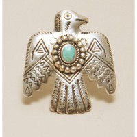 Alushia Sanchia - Pyramid Eagle Ring