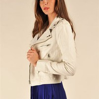 Pink Ladies Jacket - White at Necessary Clothing