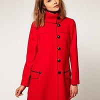 ASOS | ASOS Coat With Fold Over Collar at ASOS