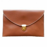 Envelop Me Clutch in Camel