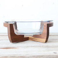 Large Modern Serving Bowl on Stand